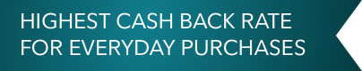 Highest cash back rate for everyday purchases