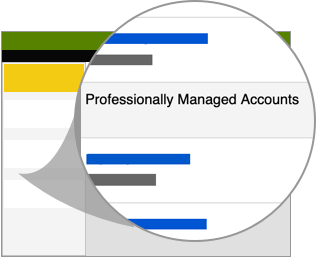 professionally managed accounts